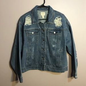 denim jean jacket with gems!